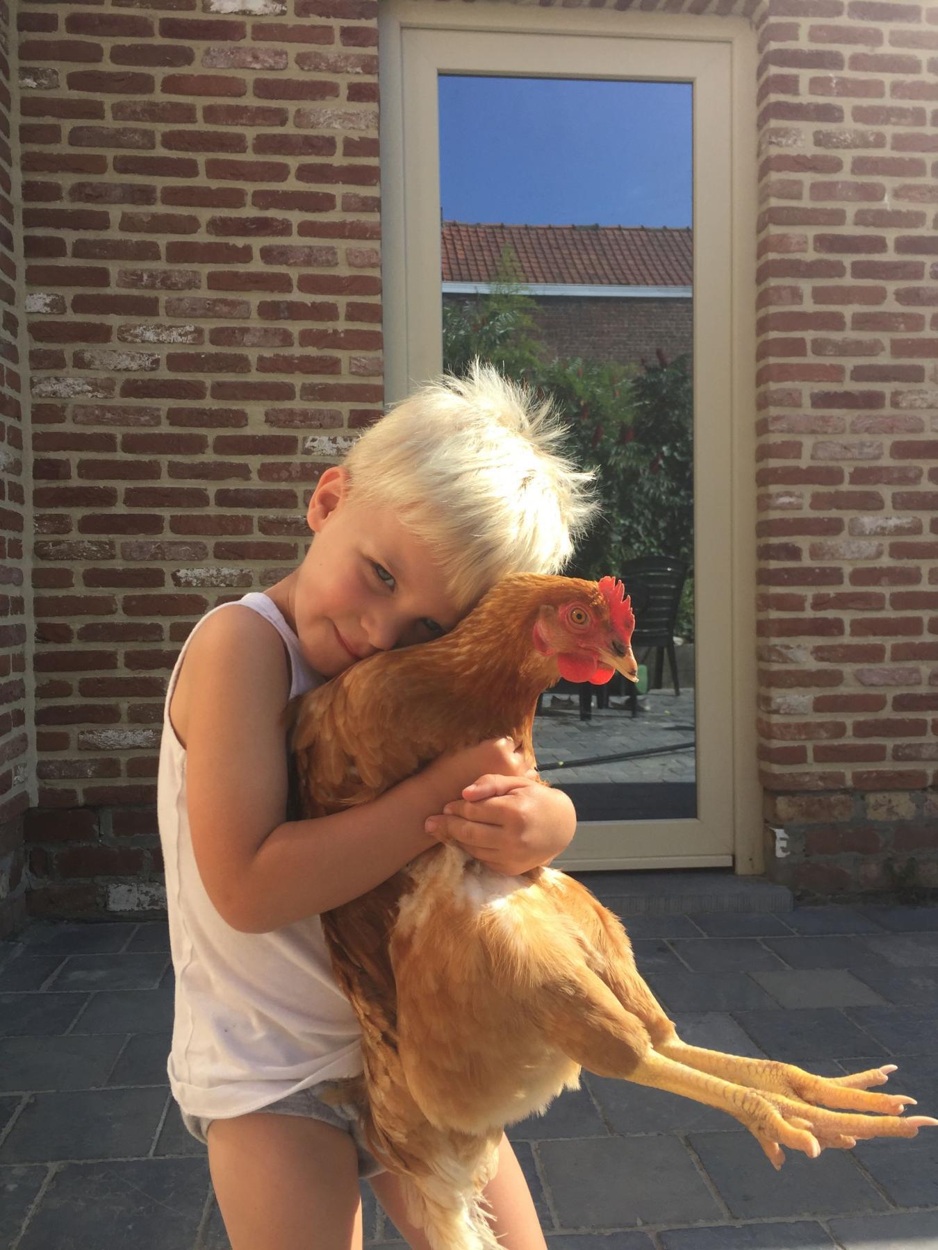 Joran Verhoeve met kip